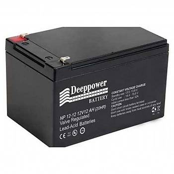 Deeppower 12V Volt 12Ah Amper Bakýmsýz Kuru UPS Alarm Aküsü