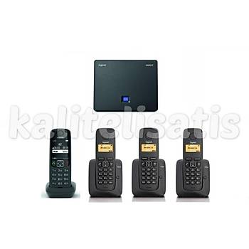 Gigaset Analog &IP 4 Dahili Dect Telsiz Kablosuz Telefon Santrali AS690
