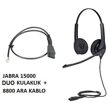 Jabra BIZ 1500 Duo QD NC Kablolu Çaðrý Merkezi Kulaklýðý