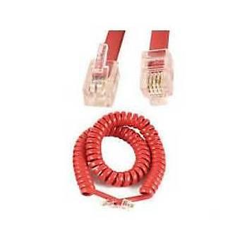 8Ft Kýrmýzý Spiral Telefon Ahize  Kordonu