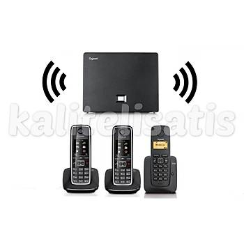 Gigaset Analog &IP 3 Dahili Dect Telsiz Kablosuz Telefon Santrali