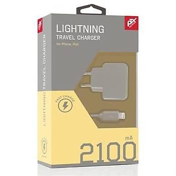 Petrix Lightning Seyahat Þarj Cihazý 2100 mAh Ýphone ipad