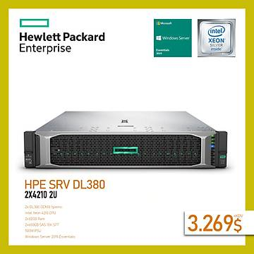 HPE DL380 GEN10 4210 2U SUNUCU 32GB (1x32GB) 2x600GB SAS 10K SFF 1x500W P408i-a 8xSFF+WINDOWS SERVER 2019 ESSENTÝALS
