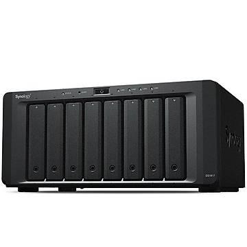 SYNOLOGY 8x DS1817+(Plus) Atom QC 2.4ghz 4gb 4x Glan 2x eSATA USB 3.0 Raid Nas Server (Disksiz) (80tb Kapasite)