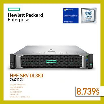 HPE DL380 GEN10 2x4210 2U SUNUCU 256GB (8x32GB) 8x480GB SSD SFF 2x500W P408i-a 8xSFF+WINDOWS SERVER STANDART