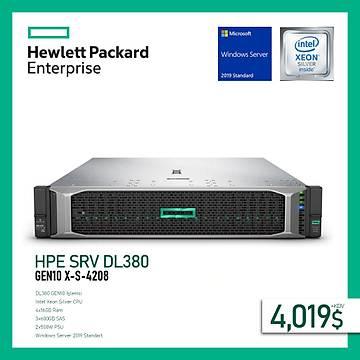 HPE SRV DL380 GEN10 X-S-4208 1P (4X16GB) 3X600GB SAS 8SFF 500W POWER+WINDOWS SERVER 2019 STANDART