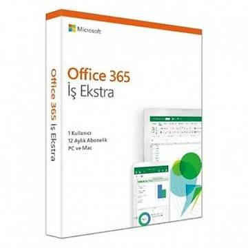 Microsoft Office 365 Ýþ Ekstra KLQ-00487 / KLQ-00437 Türkçe Kutulu Ofis Yazýlýmý