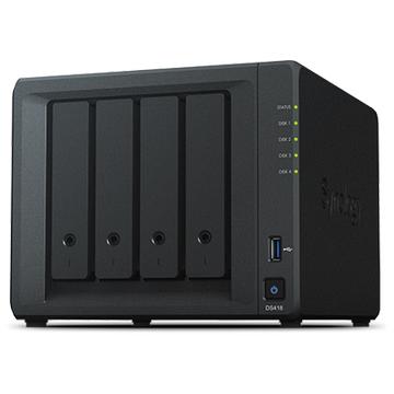 SYNOLOGY 4x DS418 Realtek QC 1.4ghz 2gb 2x Glan USB 3.0 Raid Nas Server (Disksiz) (56tb Kapasite) 2x IP Kamera Desteði