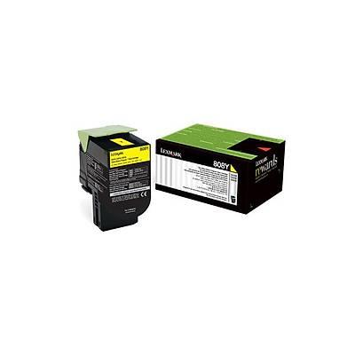 Lexmark 80C80Y0 Sarý Return Toner 1000 Sayfa