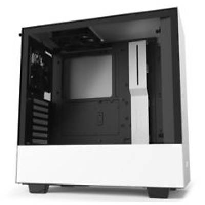 """NZXT CA-H510B-W1 """"H510 Compact Mid Tower White/Black Chassis with"""