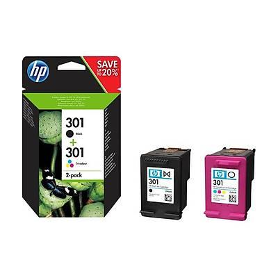 HP N9J72AE BK/CMY Mürekkep Kartuþ 2'li Paket (301)