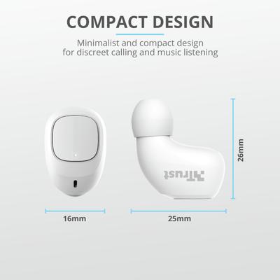 Trust 23904 NIKA Compact Bluetooth Kulaklýk Beyaz