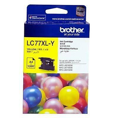 BROTHER LC77XLY Çok Fonksiyonlu Renkli Yazýcý Kartuþu Siyah