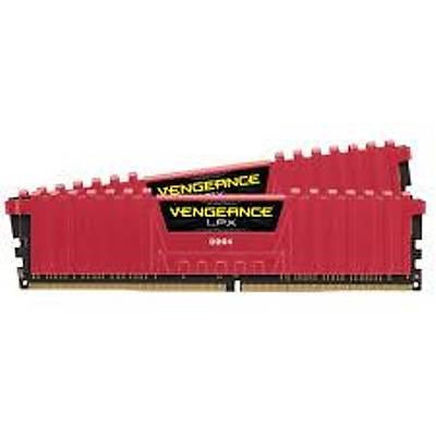 CORSAIR CMK32GX4M2B3200C16R 32GB (2X16GB) DDR4 3200MHz CL16 VENGEANCE LPX SOÐUTUCULU KIRMIZI DIMM BELLEK