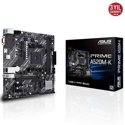 Asus PRIME A520M-K DDR4 S+V+GL AM4 Anakart