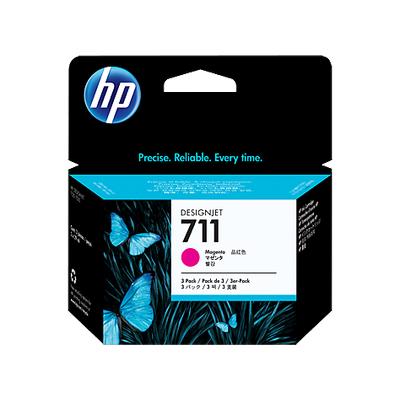 HP CZ135A (711) MACENTA 3 LU PAKET 29 ML GENIS FORMAT MUREKKEP KARTUSU