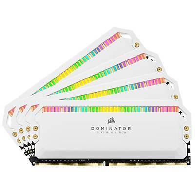 CORSAIR CMT32GX4M4K4000C19W 32GB (4X8GB) DDR4 4000MHz CL19 DOMINATOR PLATINUM RGB SOÐUTUCULU BEYAZ DIMM BELLEK