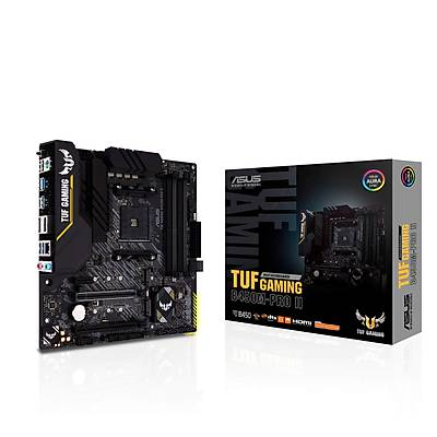 ASUS TUF GAMING B450M-PRO II AMD B450 AM4 DDR4 4400 DP HDMI Çift M2 USB3.2 AURA RGB mATX
