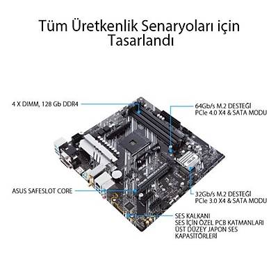 Asus PRIME B550M-A (WI-FI) DDR4 S+V+GL AM4 Anakart