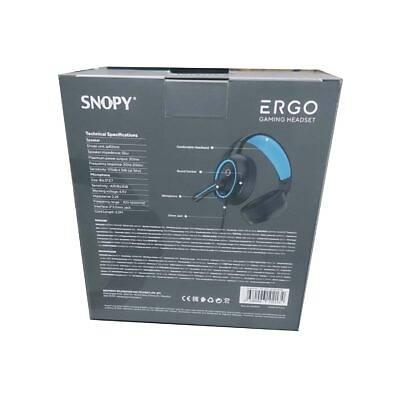 Snopy SN-GX1 ERGO Siyah/Mavi Gaming Mic. Kulaklýk
