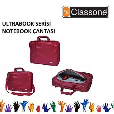 CLASSONE UL162 13/14/15,6 Uyumlu Ultracase Serisi Notebook Çantasý Kýrmýzý Renk