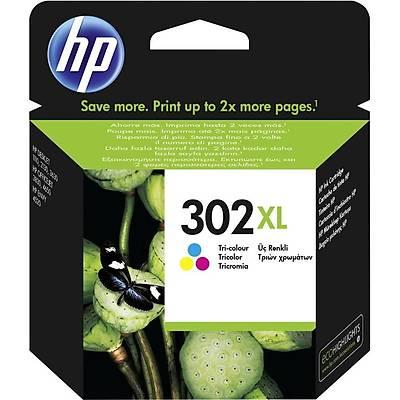HP F6U67A 302XL Üç Renkli Yüksek Kapasite Orijinal Mürekkep Kartuþu