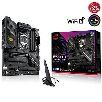 ASUS ROG STRIX B560-F GAMING WIFI Intel B560 LGA1200 DDR4 5000 DP HDMI 3x M2 USB3.2 AX WiFi + BT AURA RGB 2.5Gb Intel ATX 128GB'a kadar ram desteði Ýki Yönlü AI Ses Engelleyici Mic.