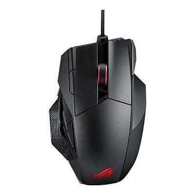 ASUS ROG Spatha Kablolu/Kablosuz MMO Oyuncu Mouse - 12 Tuþ, 8200 DPI Laser Sensor, Aura Sync RGB