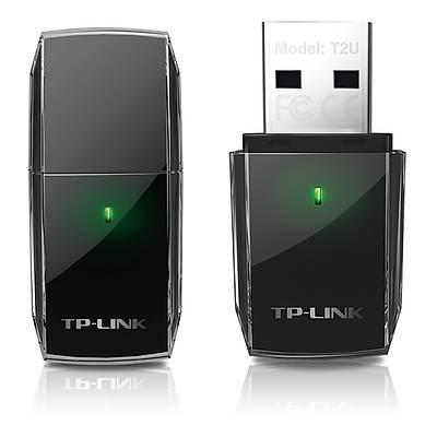 TP-LINK ARCHER-T2U Kablosuz USB Adaptör 433Mbps 5GHz+150Mbps 2.4GHz Dual Band