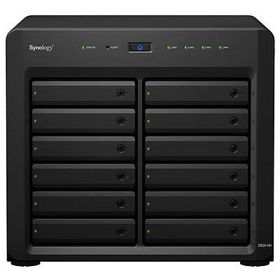 """SYNOLOGY DS2419PLUS Nas Server Bad 3,5"""" Disk Destekli Storage"""