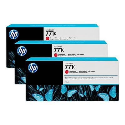 HP B6Y32A KRT NO 771 Kırmızı 775ML 3'lü Paket