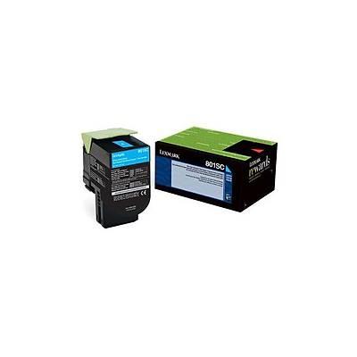 Lexmark 80C8SC0 Mavi Return Toner 2000 Sayfa
