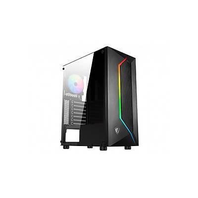 MSI MAG VAMPIRIC 100R TEMPERLI CAM  1 X A-RGB FAN 1 X 120MM FAN ATX GAMING BILGISAYAR KASASI