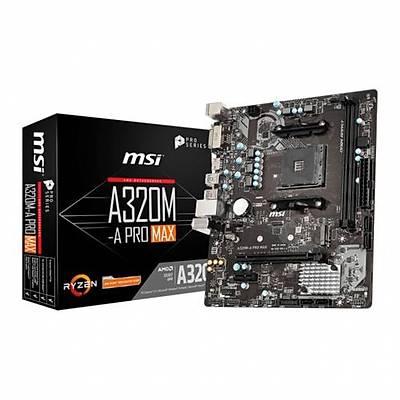 MSI A320M-A PRO MAX DDR4 S+V+GL AM4 (mATX) Anakart