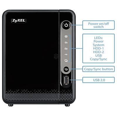 Zyxel NAS326 2x12TB Disk Destekli Nas Cihaz