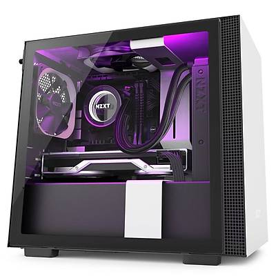 NZXT CA-H210I-W1 H210i Mini ITX White/Black Chassis with Smart Device 2, 2x 120mm Aer F