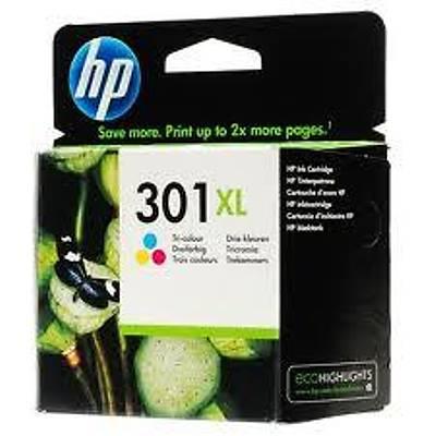 HP CH564EE (301XL) UC RENKLI YUKSEK KAPASITELI MUREKKEP KARTUSU 330 SAYFA