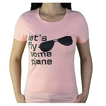 T-Shirt Gözlük Tasarýmlý