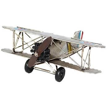 Uçak Maketi Çift Kanatlý Gri