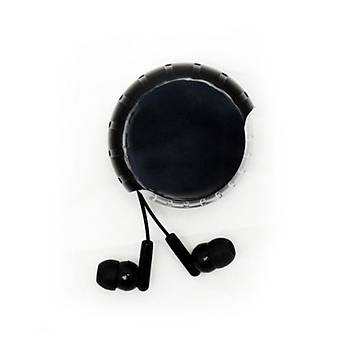 Makaralý Kulaklýk Siyah