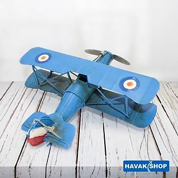 Mavi Metal Maket Uçak