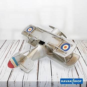Gri Metal Maket Uçak