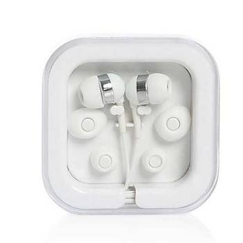 Mikrofonlu Mini Beyaz Kulaklýk