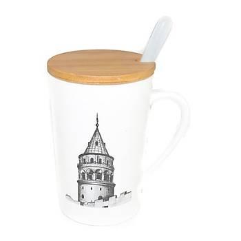 Galata Kulesi Tasarýmlý Kupa Bardak