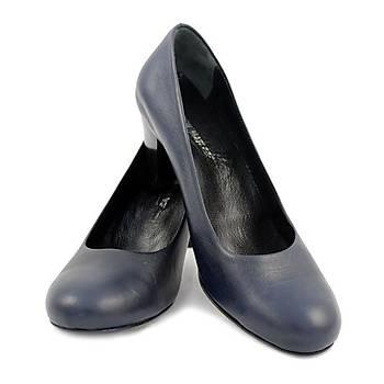 Hostes Ayakkabısı Kısa Topuk Lacivert