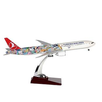 Thy Boeing 777-300 1/200 Ölçek Miami Ýstanbul Ýniþ Takýmlý
