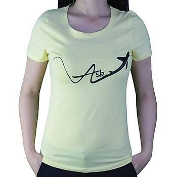 T-Shirt Aþk Tasarýmlý