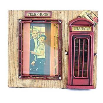 Londra Telefon Kulübesi Fotoðraf Çerçevesi