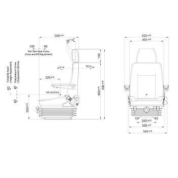 P488HF2 Mekanik Serisi Ýþ Makinasi Operatör Koltuk