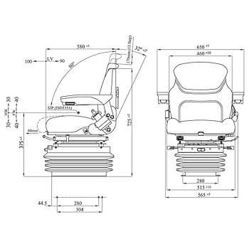 Agromact Air 12/24 Volt Serisi Traktör Koltuk